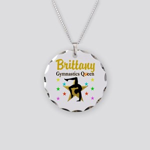 GYMNAST QUEEN Necklace Circle Charm