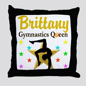 GYMNAST QUEEN Throw Pillow