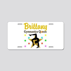 GYMNAST QUEEN Aluminum License Plate