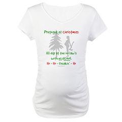90866c2e544b7 Funny, snarky pregnant at Christmas Shirt > Pregnant at inlaws no drinking  > Evil Genius Woman