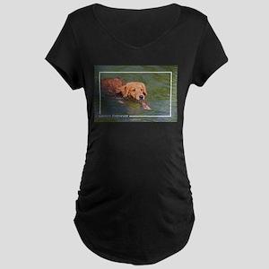 Golden Retriever-3 Maternity Dark T-Shirt