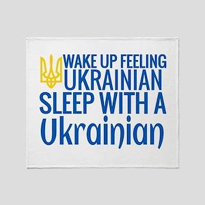 Feeling Ukrainian Throw Blanket