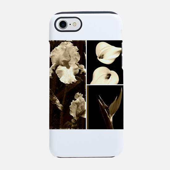 Sepia Flower Collage iPhone 7 Tough Case