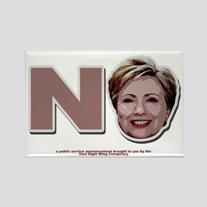 No Hillary Rectangle Magnet