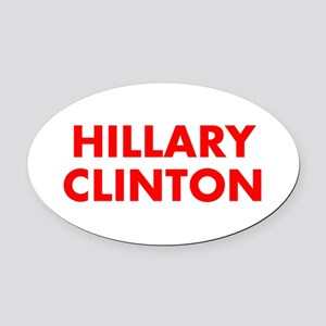 Hillary Clinton-Fut red 400 Oval Car Magnet