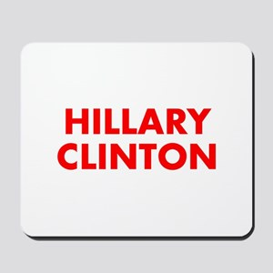 Hillary Clinton-Fut red 400 Mousepad