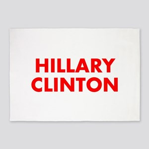 Hillary Clinton-Fut red 400 5'x7'Area Rug