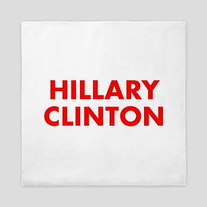 Hillary Clinton-Fut red 400 Queen Duvet