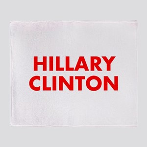 Hillary Clinton-Fut red 400 Throw Blanket