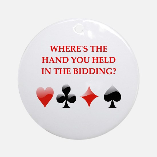 duplicate bridge gifts Ornament (Round)