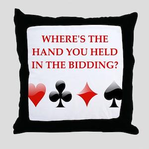 duplicate bridge gifts Throw Pillow