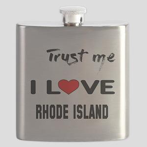 Trust me I love Rhode Island Flask