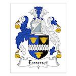 Emmet Family Crest Small Poster