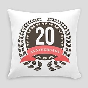 20 Years Anniversary Laurel Badge Everyday Pillow