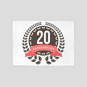 20 Years Anniversary Laurel Badge 5'x7'Area Rug