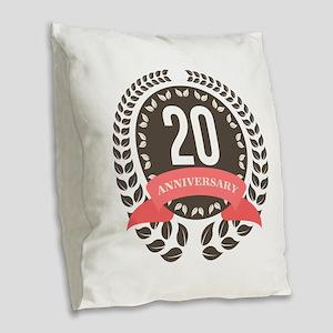 20 Years Anniversary Laurel Ba Burlap Throw Pillow