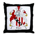 Elton Family Crest Throw Pillow
