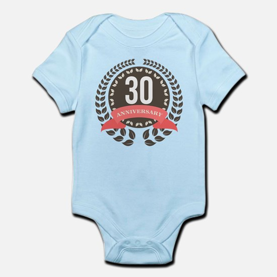 30 Years Anniversary Laurel Badge Infant Bodysuit