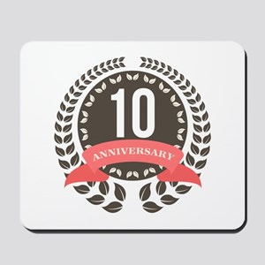 10 Years Anniversary Laurel Badge Mousepad