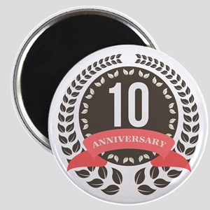 10 Years Anniversary Laurel Badge Magnet
