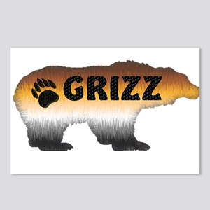 FURRY GRIZZ PRIDE BEAR Postcards (Package of 8)