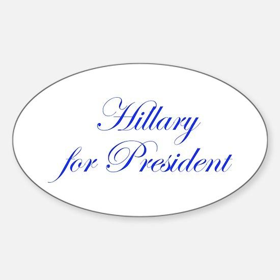 Hillary for President-Edw blue 470 Decal