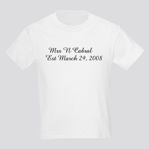Mrs N Cabral      Est March Kids Light T-Shirt