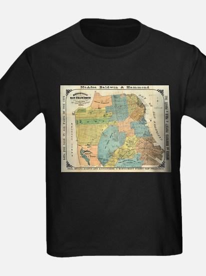 Vintage Map of San Francisco (1890) T-Shirt