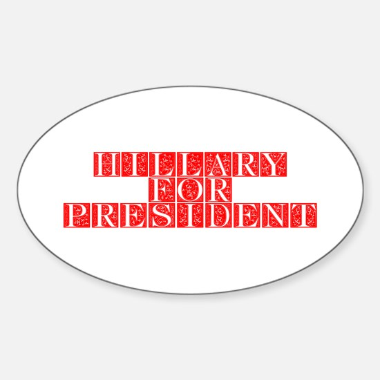 Hillary for President-Fle red 470 Decal