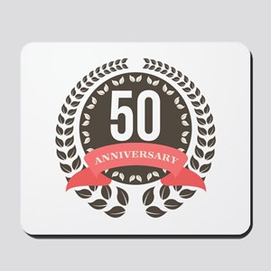 50 Years Anniversary Laurel Badge Mousepad