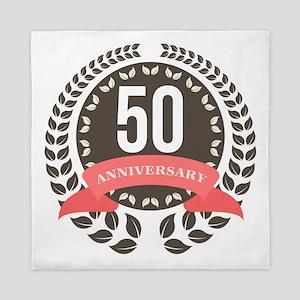 50 Years Anniversary Laurel Badge Queen Duvet