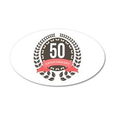 50 Years Anniversary Laurel Wall Decal