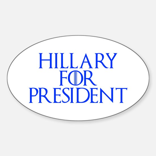 Hillary for President-Gam blue 400 Decal