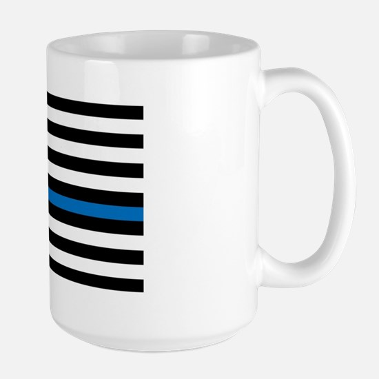 Thin blue line flag Large Mug