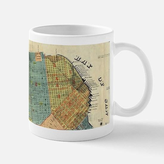 Vintage Map of San Francisco (1890) Mugs