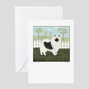 Country Keeshond Greeting Card