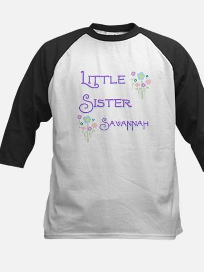 Little Sister Savannah Kids Baseball Jersey