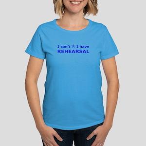 Rehearsal with Star Women's Dark T-Shirt