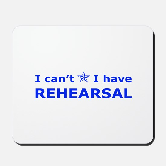Rehearsal with Star Mousepad