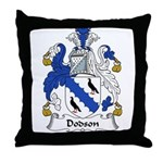 Dodson Family Crest Throw Pillow