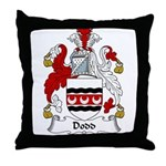Dodd Family Crest Throw Pillow