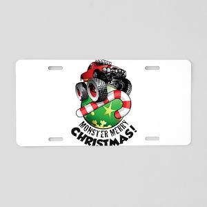 Monster Truck Ornament Aluminum License Plate