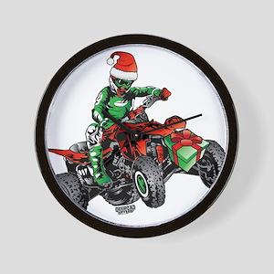 ATV Quad Christmas Racer Wall Clock