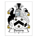 Deveris Family Crest Small Poster