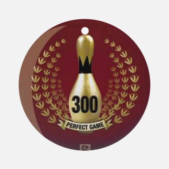 BOWLING.  300 GAME.  PERFECT GAME Round Ornament