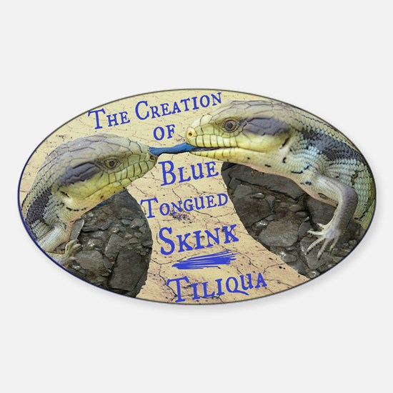 The Creation of Blue Tongued Skink Decal