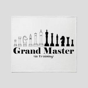 Chess Grand Master Throw Blanket