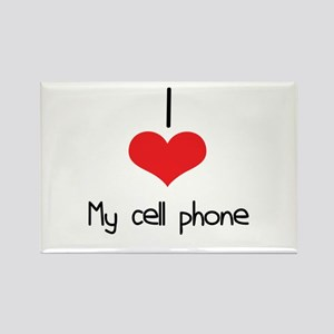 My Cell Phone Rectangle Magnet