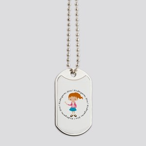 Cute Girl Kindergarten Diva Dog Tags