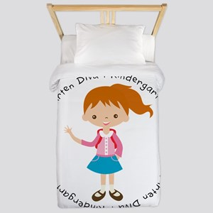 Cute Girl Kindergarten Diva Twin Duvet